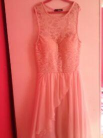 Women's light pink dress