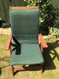 Wooden Garden chair reclinable