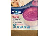 Milton combi steriliser, cold water and microwaveable. Used twice whilst on holiday. St mellons