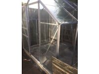 Aluminium greenhouse good condition just needs a clean. No broken panels,buyer to dismantle