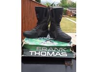 Frank Thomas biker boots/suzuki teeshirt