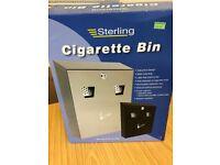 Lockable Cigarette bin (new in box, with keys)