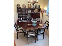 Mahogany Dining room illuminated Display cabinet sideboard by by Meredrew furniture