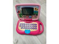 Leapfrog pink toy laptop