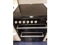 black 60cm ceramic cooker perfect working order