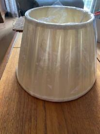 Cream pleated lamp shade - never been used
