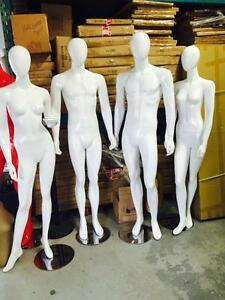 White Glossy Mannequins/ Mannequins/ male mannequins/ female mannequins