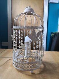 Lovely vintage style birdcage lamp £5