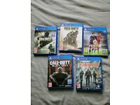 Ps4 games COD Fifa Division