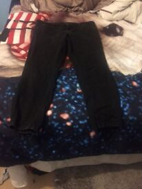 Women's size 14 clothes bundle jeans , top , poncho , dress , top , pjay bottoms