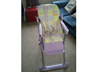 High chair in good condition, comes from smoke free home, collect in person.