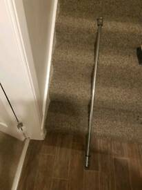 2 metre chrome curtain pole