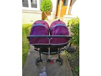 Double Baby Jogger Citi Mini purple