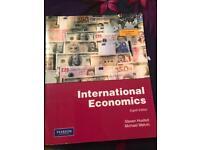 Second hand international economics book
