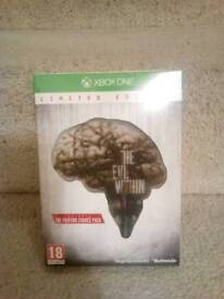 Xbox one limited edition big box evil within NEW