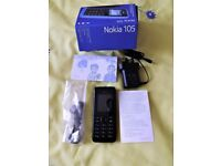 Nokia 105 Basic Mobile phone - in excellent condition. Still Boxed. Believed unlocked