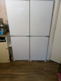 two intergrated fridge freezers for sale