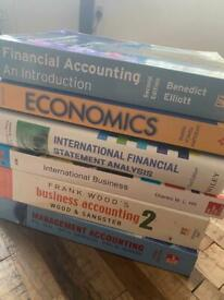 Business, Accounting and Economics textbooks - no notes on them - £25!