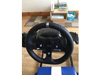 Logitech g920 wheel pedals and gear shifter as new