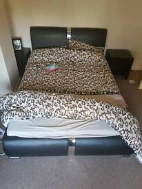 Good condition double bed with memory phone mattress great condition