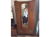 Vintage wardrobe with drawer
