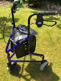 3 wheel rollator walking mobility aid