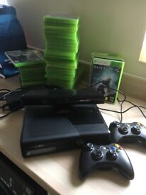 Xbox 360 Kinect plus 35 games , complete bundle with 2 controllers. Excellent condition.