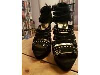 Black Odeon high heel shoes