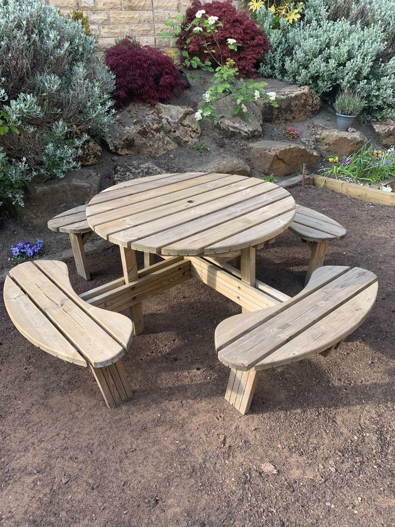 SOLD Garden Table 8 - Seater - Wooden | in Keighley, West ...