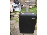 Delsey large suitcase luggage 4 wheels used v.good condition size 75x53x28cm £20