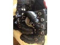 New rock boots worn but good condition size 13