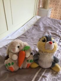 Gorgeous Disney's 'Thumper' (large) and Bunny cuddly toys