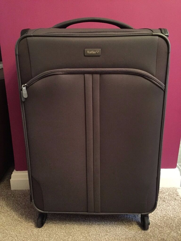 Antler Aire 4 Wheel 80cm Large Suitcase Charcoal Rrp 149