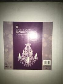 Stunning chandeliers. In box x2