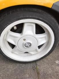 oettinger alloys, 4x100, new tyres