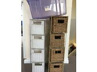 Storage basket drawers and boxes