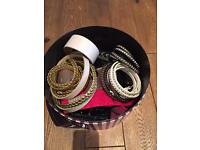 Collection of ladies belts