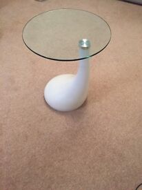 Cream and glass table corner table