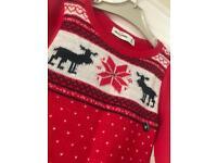 Abercrombie children's Jumper NEW - Christmas Reindeers