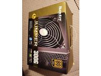 New, boxed 300 Watt 80 Plus Gold Power Supply PSU ATX