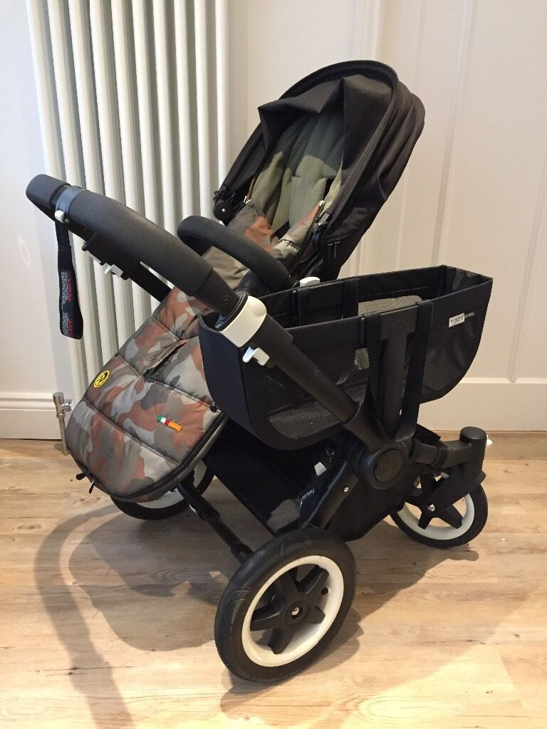 Bugaboo Donkey Duo Black With Black Frame And Accessories