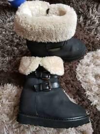Girls hidden wedge boots size 8