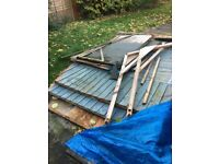 Dismantled two door shed 8 x6
