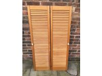 """Louvred doors in fantastic condition. Over 30 years old so no warping . Size 53"""" high, 14"""" wide"""