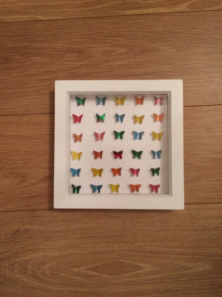 Recycled art butterflies