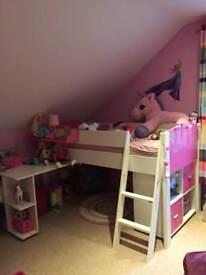 Girls midsleeper bed