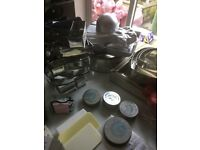 Large range of cake decoration equipment, from novelty tins, numbers and shapes, cutters and moulds