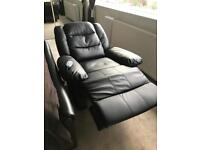 Faux leather recliner massage and heat built in