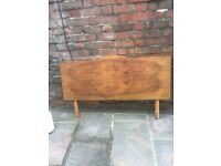 Vintage wooden 1950's solid wood headboard