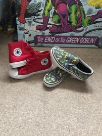 Boys converse and vans for sale!